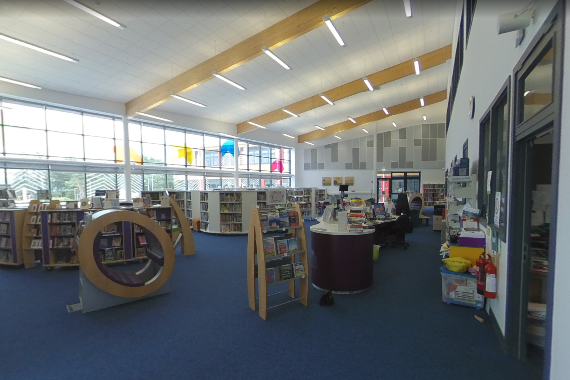 Alford Library interior