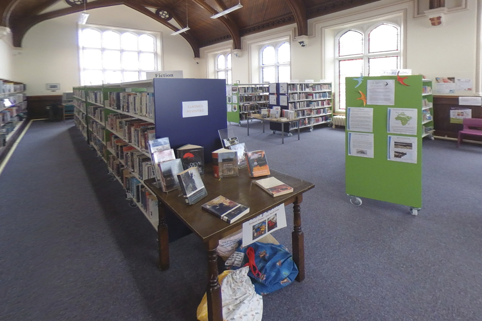 Huntly Library interior