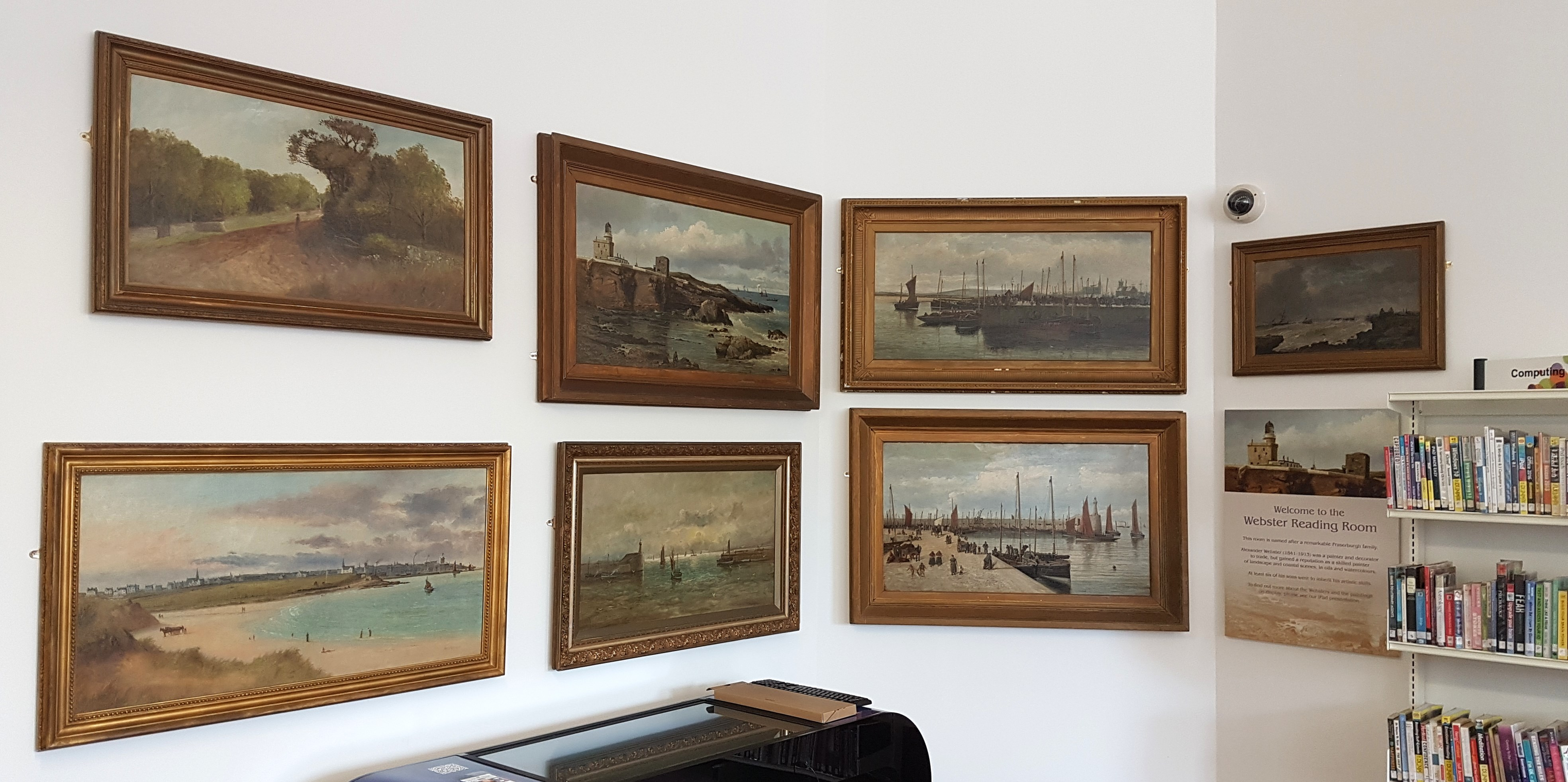 webster paintings in reading room