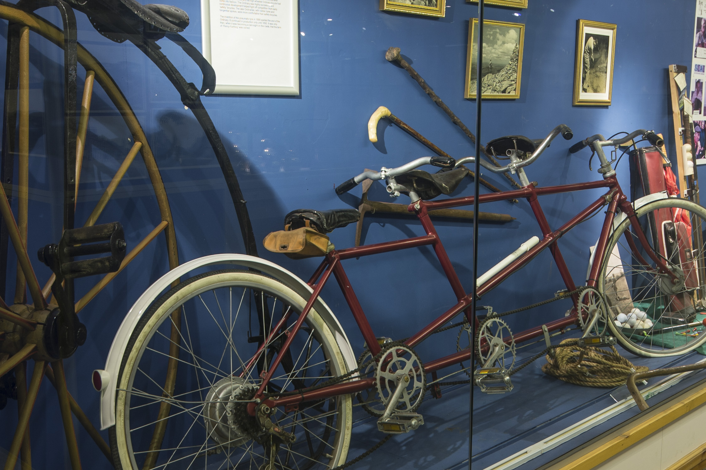 Display of bicycles