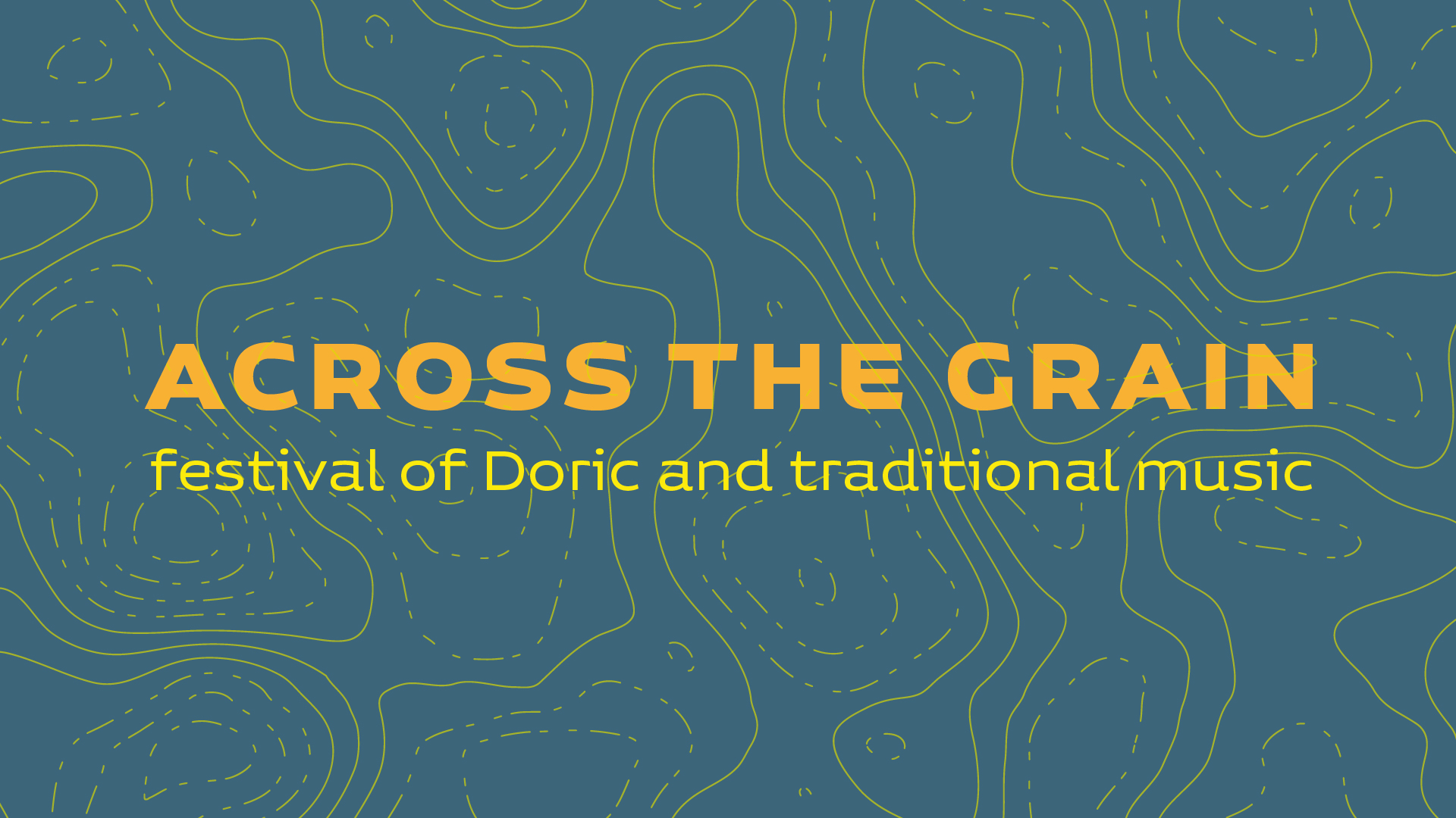 'Across the Grain logo with wording - festival of Doric and traditional music