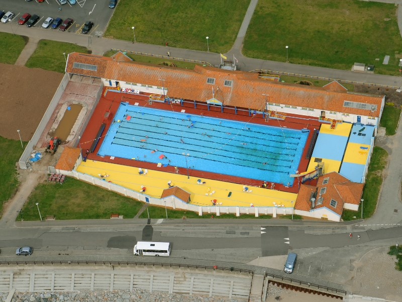 Arial view of Stonehaven Outdoor Pool