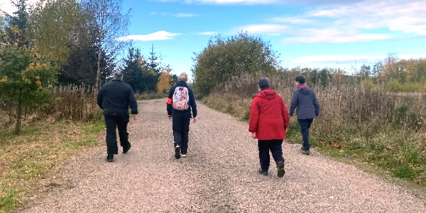 A group of people enjoying a Health Walk
